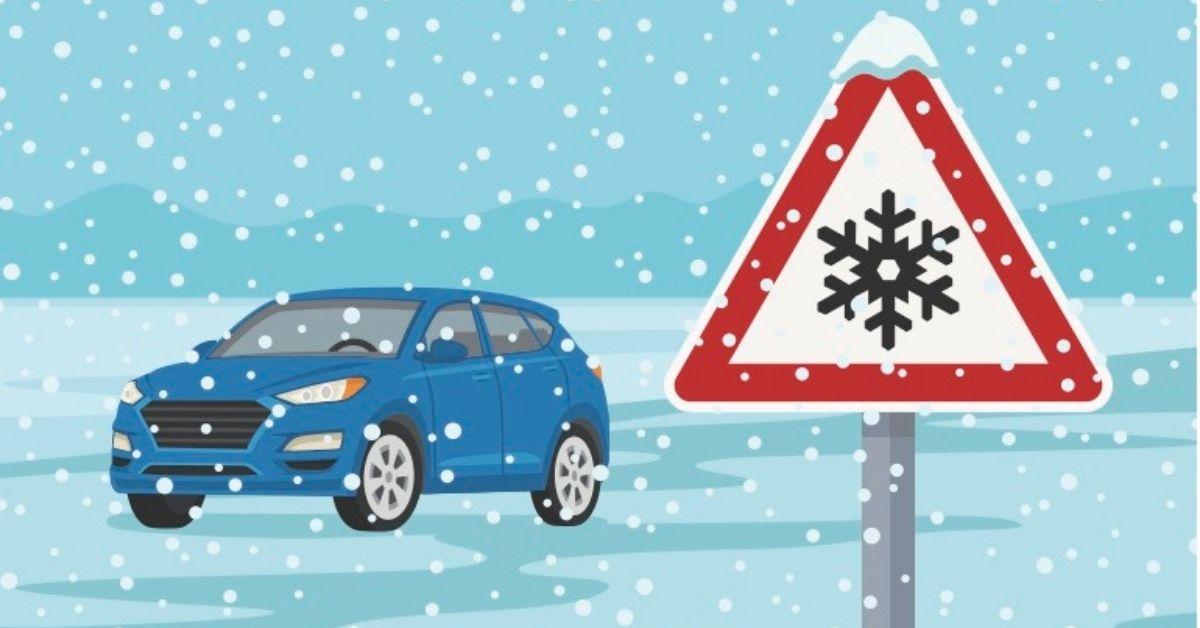 körning med bil halka och snö